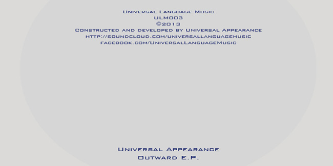 PREVIEW: Universal Appearance – Clear Your Mind (ULM004)